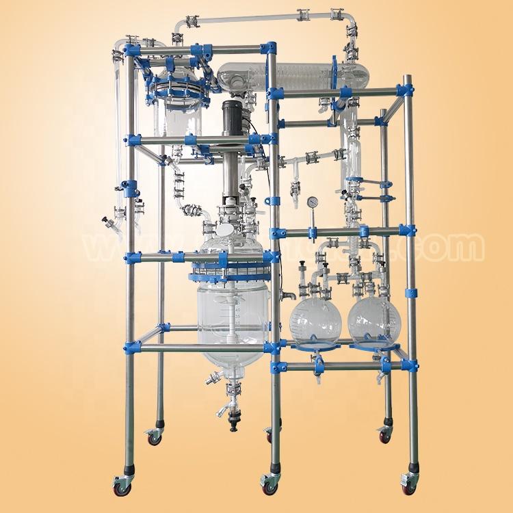 multifunctional double layer glass reactor