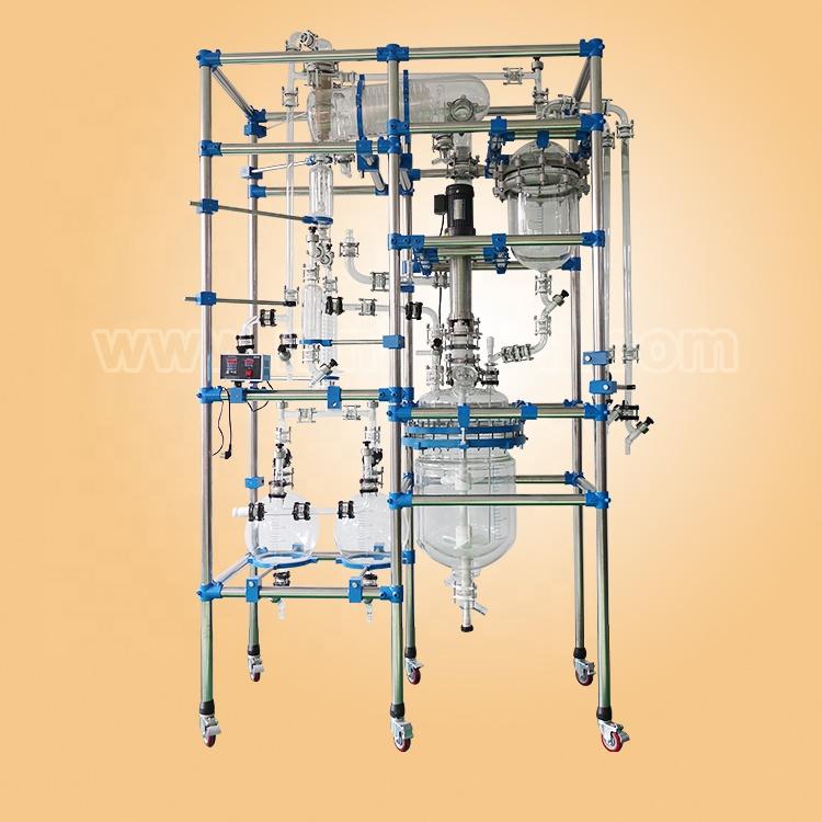 Multifunctional glass reactor