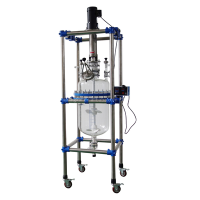 50l single layer glass reactor